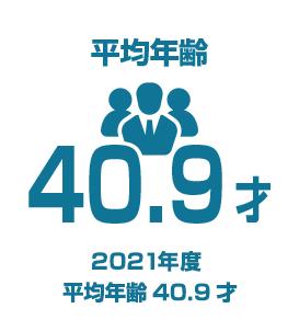 社員平均年齢 40.2才