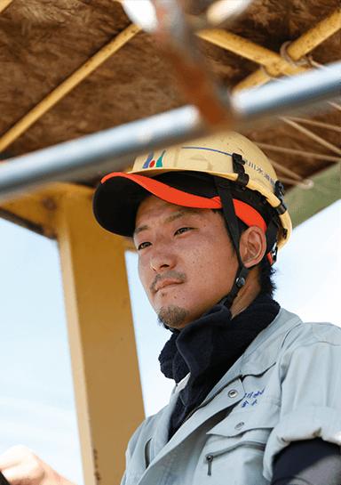 早川水道の男性